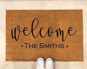 Door Mat Doormat Personalized Doormat Personalized Welcome Mat Last Name  Gift