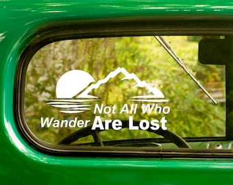 2 Not All Who Wander Are Lost Decals, Hiking Decal, Wander Sticker, Vinyl Sticker, Car Decal, Laptop Sticker, Vinyl Decal