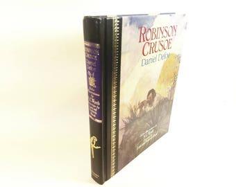 Robinson Crusoe Hollow Book Safe Secret Fantasy Storage Book Secret Book w\ hidden storage (Diversion) Robinson Crusoe Secret Book