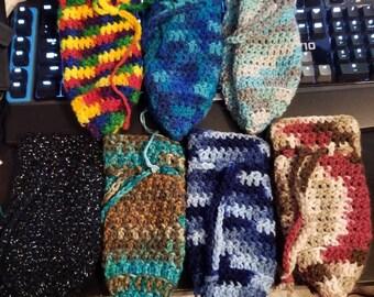 Custom Crochet Drawstring Bag