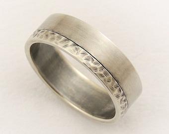 Elegant men's wedding ring - engagement ring,promise ring,men's ring