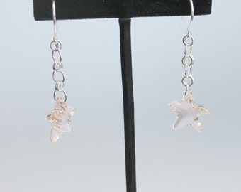 Swarovski Crystal Starfish Earrings on Sterling Silver Earwires