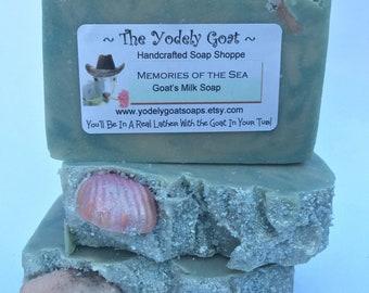 Clean Ocean Fragrance ~ VERY Gentle, NO Coconut Oil ~ Memories of the Sea Goat's Milk Soap