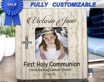 First Holy Communion Picture Frame First Communion Gift From Godparents First Communion Girl First Communion Keepsake Girl First Communion