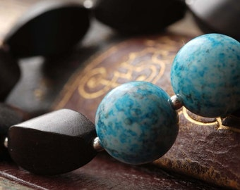 akvarell silver, ebony and vintage lucite bracelet