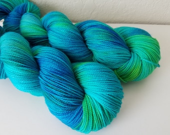 Shark in the pond on Sock - Hand Dyed Yarn