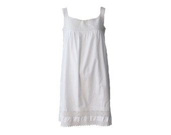 Vintage Ivory Cotton and Crochet Hand Made Chemise 1930s