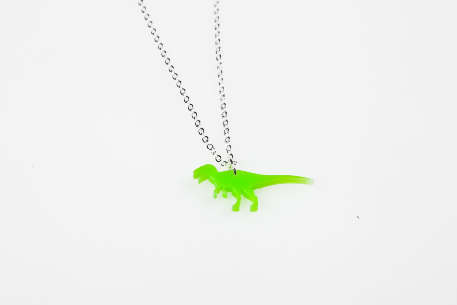 dinosaur tatty gold pendant necklace devine mirrored acrylic acryl