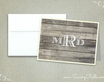 Personalized wooden pattern thank you notes, notecards, men's notecards, masculine notecards, stationery, letterhead
