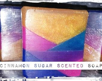 Layered cinnamon sugar scented soap