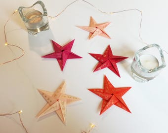 Customizable origami stars