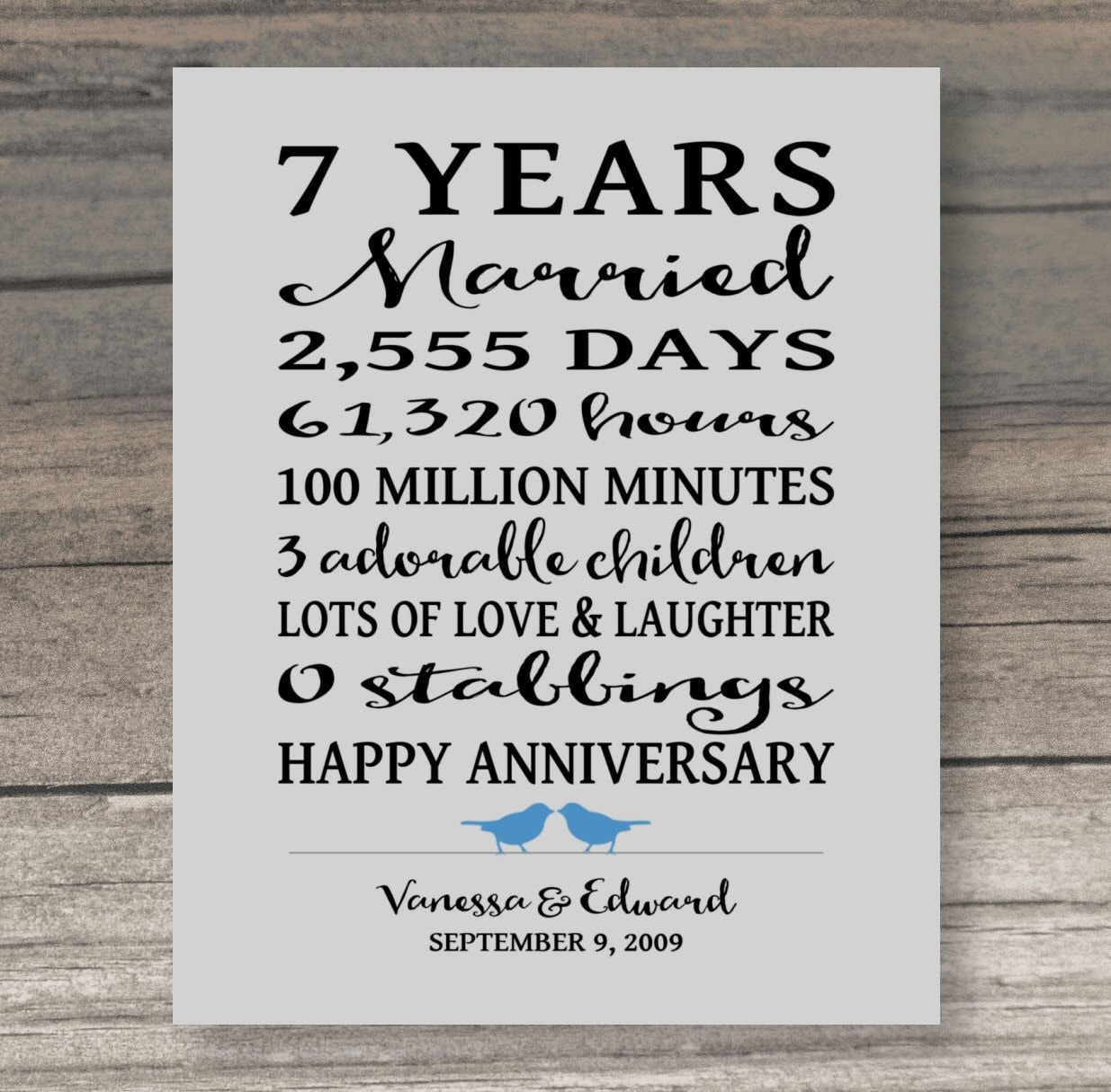 7 year anniversary gift funny anniversary gift for spouse art zoom biocorpaavc Gallery