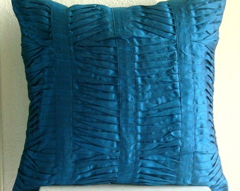 Decorative Throw Pillow Covers Couch Pillow Case Sofa Pillow Bed Pillow 16x16 Inch Blue Silk Pillow Cover Home Living - Royal Blue Crest