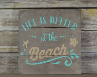 Rustic Beach Decor   Beach Signs   Beach Theme Decor   Beach Cottage Decor    Beach