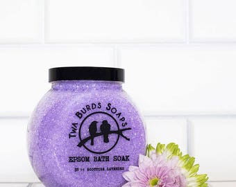 Epsom Bath Salts / Lavender / Bath Salt Gift / Spa Gift Set / Bath Salt Favors / Spa Bath / Epsom Salts / Girl Gift / Colour Change Purple