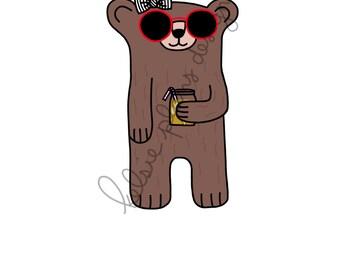 Sleepy Bear is Ready for Summer