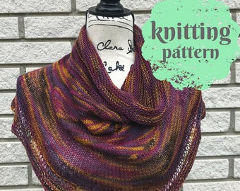 Knitting Pattern | |Kerchief or Cowl Pattern| Digital Download or Instant Download | Accessory