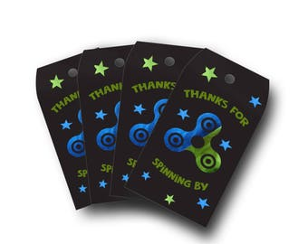 Fidget Spinner Party Favor Tags - Invitation Tags - Thank You Tags- DIGITAL DOWNLOAD - PRINTABLE - Fidget Spinner Tags - Party Tags