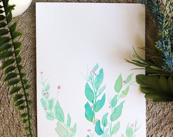 Leafy Watercolor Painting