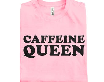 CAFFEINE QUEEN Retro Tee