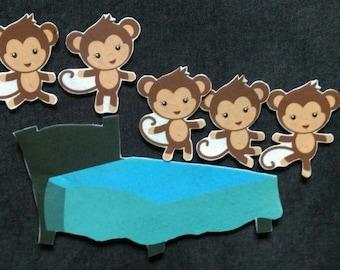 5 Little Monkeys Felt Board Story // Monkeys // Bed // Nursery Rhyme //