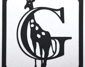 Giraffe alphabet etsy