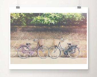purple bicycle photograph Cambridge photograph travel photography wanderlust art black bicycle print Cambridge print