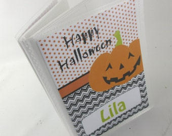 HALLOWEEN PHOTO ALBUM Brag Book Happy Halloween Boy photo album Girl album Boy baby photo Pumpkin photo album jack o lantern 4x6 or 5x7 193