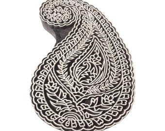 Paisley Indian hand  carved Stamp Indian Wood Stamp Wood Block Stamp