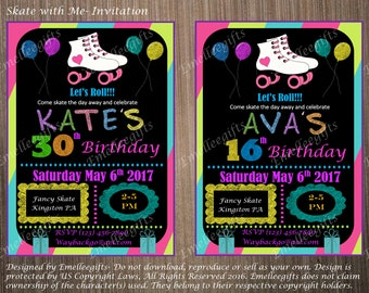 Skate with Me #1 - 4x6 Invitation