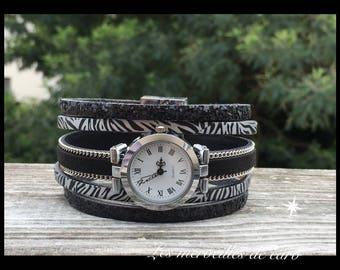 Zebra cuff watch