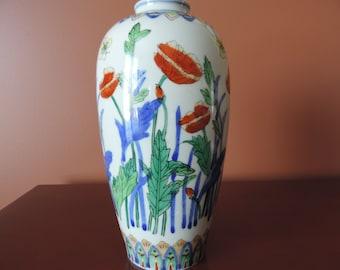 VASE - POT - China - painted hand - Vintage