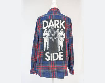 Dark Side Repurposed Flannel