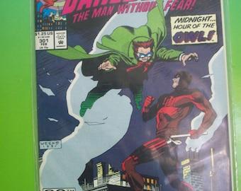 DareDevil #301 The Owl VF-NM Vintage Comic Book 1991 Marvel Comics