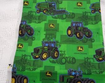 "Brand New John Deere Green background Fabric 100% Cotton  36""L  x 44""W"