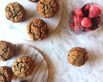 Mixed Berry Muffins Organic Gluten Free Dairy Free Low Carb