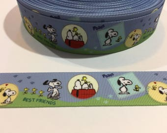 "3 Yards of 1"" Ribbon - Best Friends Snoopy and Woodstock"