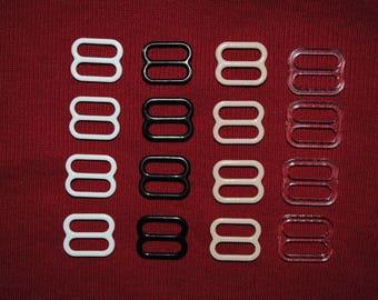 set of 4 strips straps 10mm choose colors