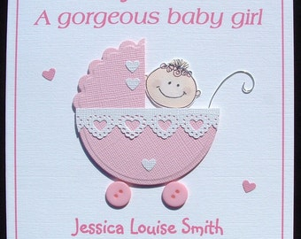 Newborn baby girl card vatozozdevelopment newborn baby girl card m4hsunfo