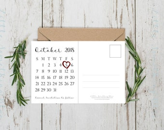 Postcard Save the Date // Printable Save the Date // Photo Save the Date // Wedding Save the Date // 5x7 // Printable // Digital