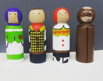 Toys - UNFINISHED Wooden Peg Dolls - DIY Kit