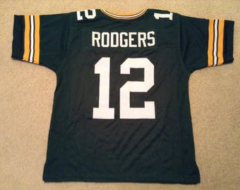 Green Bay Packers Aaron Rodgers UNSIGNED CUSTOM Made Green Jersey