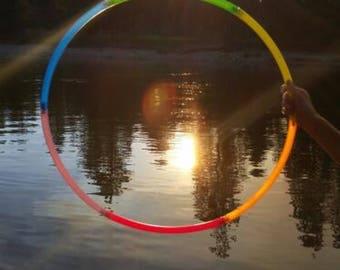6 pieve UV Rainbow travel hoop (2 Designs!)