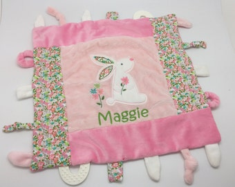 Personalized baby etsy personalized baby girl gift blankie toy minky blanket personalized baby gift monogram negle Image collections
