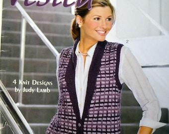 Vested Interest Knitting  Pattern Designed by Judy Lamb 4 vest patterns