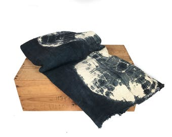 African Mudcloth Gray Fabric Throw Blanket Mud Cloth Throw