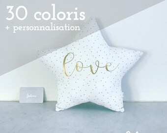 Star cushion with custom - size M - choose from 30 colors - personalized birthday gift