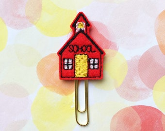 Planner Clip, Red Schoolhouse