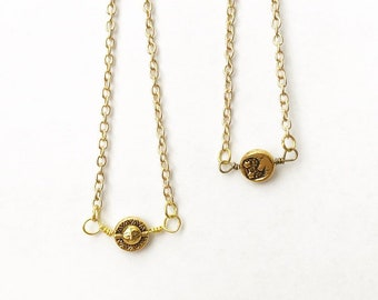 Sun & Moon Reversible Necklace - Ready to Ship - SALE