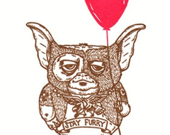 Stay Furry Limited Edition Gocco Screenprint